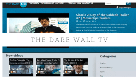 the dare wall tv